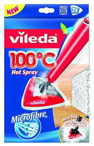 """vileda ersatzbezug fuer 100 grad hot spray und steam dampfreiniger 2x 1 stueck - Vileda Ersatzbezug für 100 Grad """"Hot Spray"""" und Steam Dampfreiniger (2x 1 Stück)"""